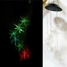 Gifts Solar Mobile Powered Wind Chime 3 Colors Changing Led Yard Décor Party