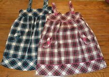 Lot of 2 The Children's Place Size 12 Plaid Dress Romper Brand New with tags