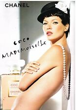Publicité Advertising 2005 Parfum Coco Mademoiselle chanel avec Kate Moss