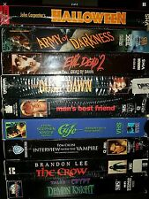 Lot of 9 Horror Scary VHS Movies - Army Of Darkness Cajon Evil Dead Halloween