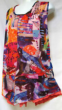 plus sz L (22) TS TAKING SHAPE Lilth Mesh Tunic funky colourful comfy Top NWT