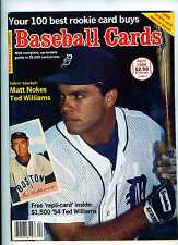April 1988 Baseball Cards Magazine 2 Ted Williams cards inside Matt Nokes Cover