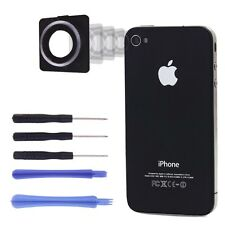 Rear Camera Lens Frame Cover Case Replacement New For iPhone 4 with 5 tools set