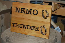PERSONALIZED CARVED WOOD STABLE SIGN - PLAQUE  -   HORSE  SIGN
