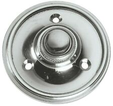 Polished Chrome Circular Victorian style Door Bell Push / Switch (BC39)