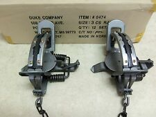 2 New Duke # 3 RUBBER JAW  Coil Spring Traps  Bobcat Coyote  Trapping 0474