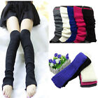 Fashion Crochet Knit Leg Warmers Long over Knee High Hosiery Stocking Boot Socks