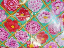 Kaffe Fassett CAMELLIA PINK   Laminated Cotton BT yard 56 inches wide