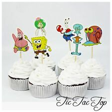 12x SpongeBob SquarePants CUPCAKE TOPPERS Party Jelly Cup *Superb Quality*