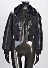 Bazar Christian LaCroix SM Quilted Faux Leather Jacket MADE IN FRANCE