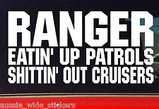 """New 200mm Funny offroad 4x4 ute Stickers """"RANGER EATIN UP"""""""