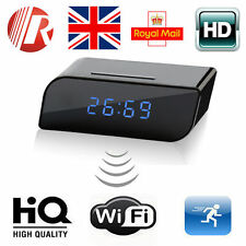 720P HD 160º Wide Angle WIFI Spy Clock Night Vision Hidden Camera DVR Camcorder