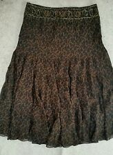 NWT Lane Bryant Brown Leopard Print Tiered Skirt size 16