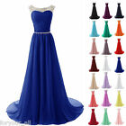 New Long Chiffon Bridesmaid Formal Ball Gown Party Cocktail Evening Prom Dress A