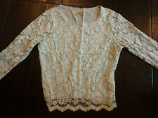 Hollister green lace long sleeved top, t-shirt, size M medium