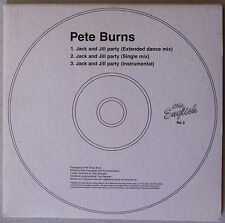 PETE BURNS * JACK AND JILL PARTY * LIMITED UK 3 TRK CD * RARE! * PET SHOP BOYS