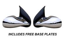CHROME M3 MANUAL DOOR WING MIRRORS BMW 3 SERIES E36 2 DOOR CABRIOLET BASE PLATES