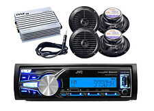 KDX31MBS Boat Bluetooth USB iPhone Receiver,Antenna, 400W Amp, 4 x 120W Speakers