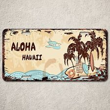 LP0165 Old Vintage Aloha Hawaii Sign Auto License Plate Home Store Gift Decor
