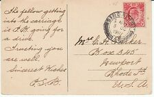 """Stamps  Straits Settlement  """"Perfin"""" on PPC  'P S / & Co' 1911"""
