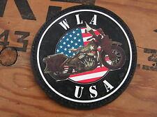 "Patch velcro "" WLA USA "" WC normandie moto COLLECTION US WW2 commémoration"