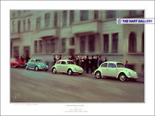 VW Volkswagen Beetle Classic Cars Hanover Germany 1968 Signed Print