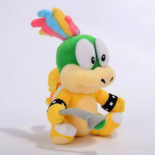 Super Mario Bros Lemmy Koopa Bowser Figure Doll 8in Plush Toy Kids Xmas Gifts
