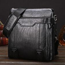 Men's Leather Messenger Bag Waterproof Briefcase Shoulder Tote Bag for Men