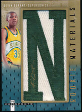 "KEVIN DURANT 2007-08 HOT PROSPECTS MATERIALS PATCH & AUTO ROOKIE CARD ""N""!"