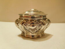 BEAUTIFUL ANTIQUE SOLID SILVER NOVELTY MINIATURE TEA CADDY