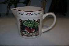 Certified International Susan Winget Creamer Small Pitcher Heart Radishes Sweet!