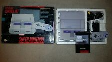 SUPER NINTENDO ENTERTAINMENT SYSTEM CONSOLE CONTROL SET COMPLETE IN BOX GOOD CND