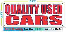 QUALITY USED CARS Full Color Banner Sign NEW XXL Size Best Quality for the $$$