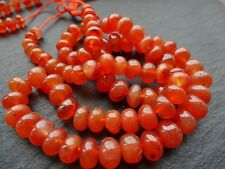 """CARNELIAN RONDELLES, 7mm - 10mm, 18"""" strand, 75 beads (with inclusions)"""