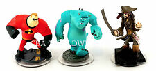 Disney Infinity Set of 3 Game Figures ONLY Mr. Incredible, Jack Sparrow, Sulley