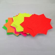 40x neon Fluorescent Stars Flash Price Display Tags Flourescent Labels Shop10 Cm