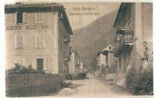 1915 VALLE ANZASCA CEPPO MORELLI VIA PRINCIPALE cartolina viaggiata Verbania