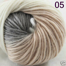 Sale 1Skein x 50gr NEW Hand Knitting Yarn Chunky Colorful Wool scarves shawls 05