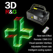 SUNY DMX 3D Effect 250mW RGY Laser Show Lighting DJ Disco Party Light Projector