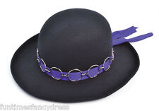 JIMI HENDRIX NERO CAPPELLO 1960's PSYCHEDELIC ROCK PURPLE HAZE Jimmy FANCY DRESS