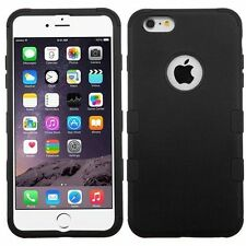 """New Black Hard Soft Rubber TUFF Armor Hybrid Cover Case For iPhone 6 Plus 5.5"""""""