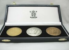 Royal Mint Boxed Gold Silver & Bronze Manchester 2002 Commonwealth Game Medals