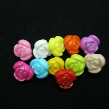 100 Pcs Random Mixed Flower Resin Sewing Shank Buttons 12mm Knopf Bouton
