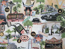 MOVIE STAR HOLLYWOOD FILM STAR BEVERLY HILLS COTTON FABRIC FQ