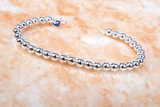 Adorable Ball Beads Fashion 925 Stamped Sterling Silver Bracelet Jewelry H988