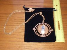 "Universal Studios Time Turner Necklace  Pendent 16"" Chain Hermione Harry Potter"
