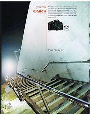 Publicité Advertising 2005 Appareil Photo Canon EOS 350 Digital