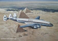 BOAC COSTELLATION AIRLINER ART BRITISH AIRWAYS B.O.A.C.