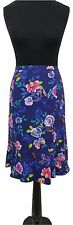 EAST Skirt Size 16 Blue w/Bright Floral Designer Evening Everyday Summer Holiday