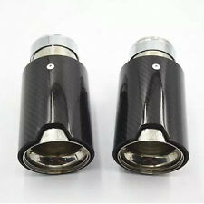 1Pc New Exhaust Muffler Silencer Pipe Tip For BMW Universal /// M Carbon Fiber